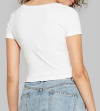 Load image into Gallery viewer, Socialite Embroidered Favorite Crop Tee