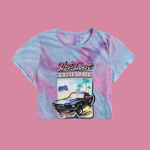Load image into Gallery viewer, West Coast Cropped Tye Dye Tee