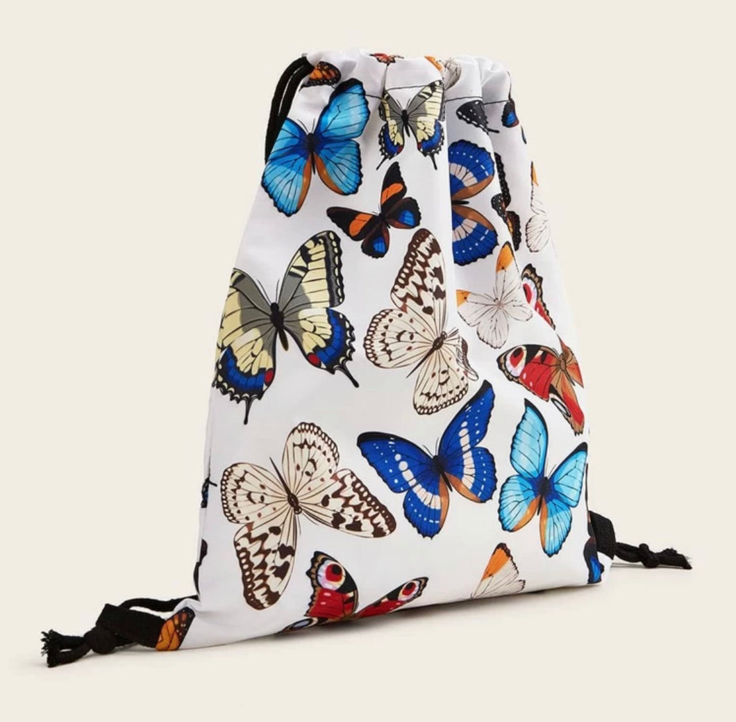Butterfly Drawstring Backpack