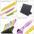 Colorful 6 Piece Stainless Steel Knife Set with See Thru Handles