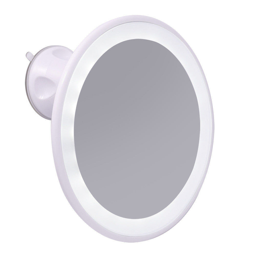 Swivel Suction Cap / USB Rechargeable LED Travel Cosmetic Mirror