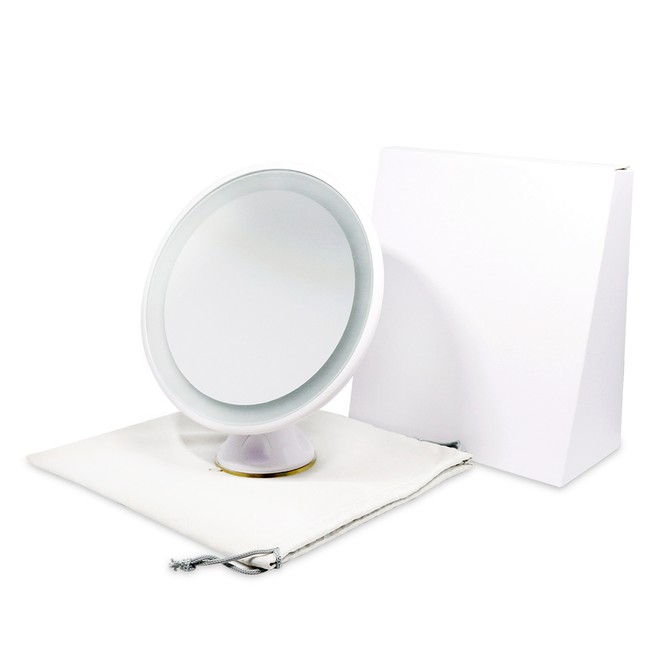 USB Rechargeable 7x Magnified Travel Lighted Makeup Mirror