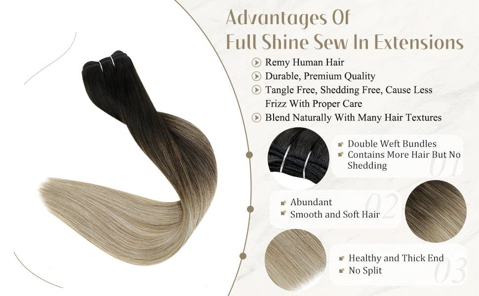 human hair wefts sew in