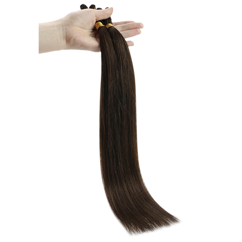 hair weave straight hand-made sew in hair