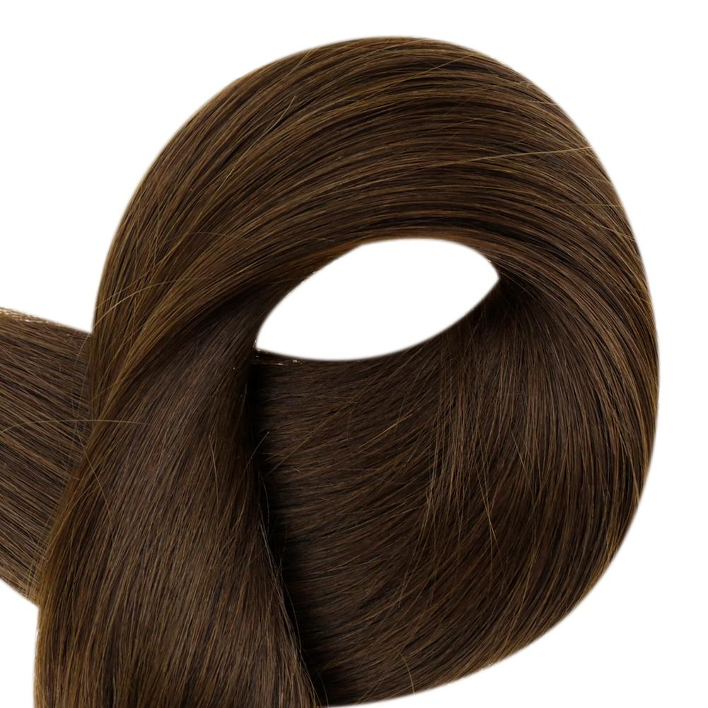 hair extensions tape in brown