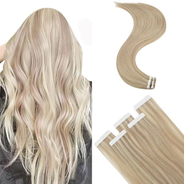 full head virgin tape in hair extensions