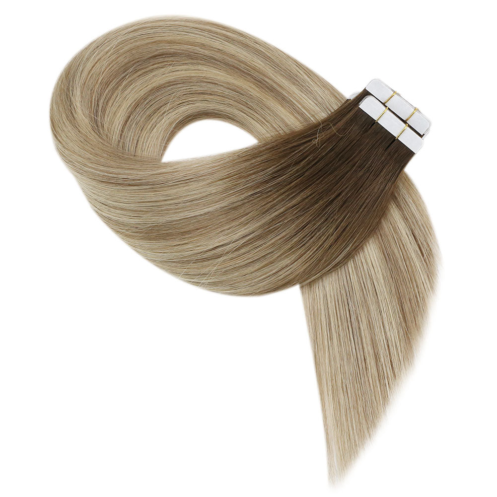 hair extensions tape in human hair blonde