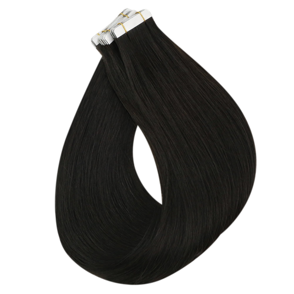 tape in 100% human hair extensions