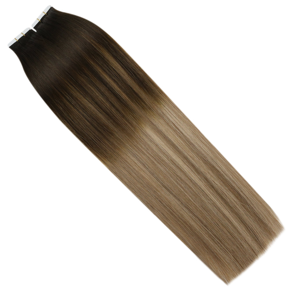 virgin tape in human hair extensions 10 pieces