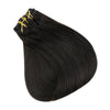 black human hair clip in