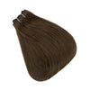 Weft Brazilian 100% Human Hair Sew In Bundles Straight 100Grams Color #4 Medium Brown (#4)