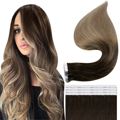 human hair tape in extensions 24 inch