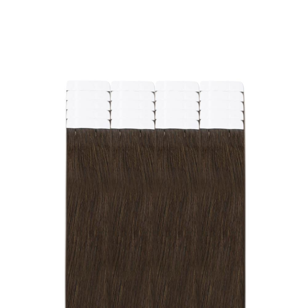 invisible tape in hair extensions brown