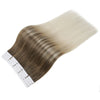 Tape in Hair Extensions 100% Remy Human Hair Balayage Ombre 40 Pieces 100 Grams (8/60)