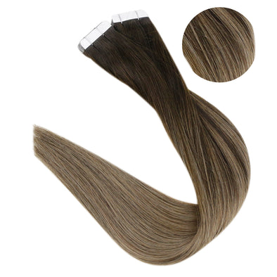 Clip in Extensions 100% Remy Human Hair 10 Pieces Balayage (2/8)