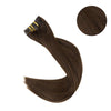 Clip in Extensions 100% Remy Human Hair 7 Pieces Chocolate Brown (#4)