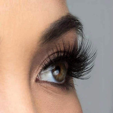 [Could Only Ship Together With The Hair]Full Shine 5D High Volume Mink Lashes With Natural Eyeline (5D-#42)