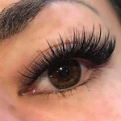 [Could Only Ship Together With The Hair]Full Shine 5D High Volume Mink Lashes With Natural Eyeline (5D-#65)