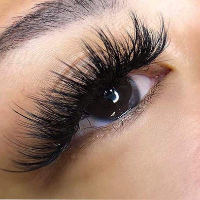 [Could Only Ship Together With The Hair]Full Shine 5D High Volume Mink Lashes With Natural Eyeline (5D-#68)