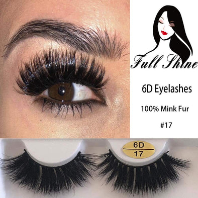 Full Shine 6D High Volume Mink Lashes With Natural Eyeline (6D-#17) [could only ship together with the hair]