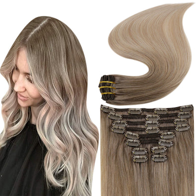seamless hair extensions clip in