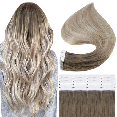 balayage tape hair extension human