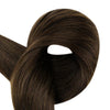 Full Shine Tape in Hair Extensions 100% Remy Human Hair 20 Pieces 50 Grams Darkest Brown (#2)