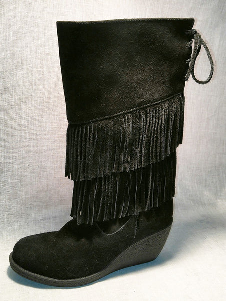 Ladies Leather Boot with Fringe