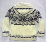 Cream Winter Design with Detachable Hood