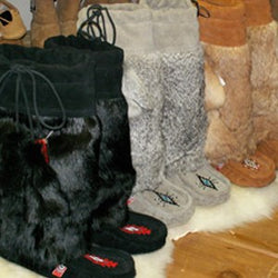 Rabbit Fur Mukluks - Ladies