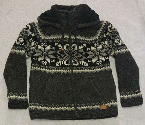 Charcoal Winter Design with Detachable Hood