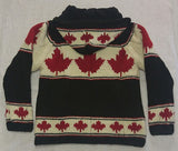 Black Maple Leaf with Detachable Hood