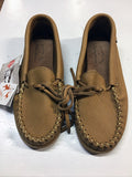 Ladies Moose Hide Moccasins with Rubber Sole