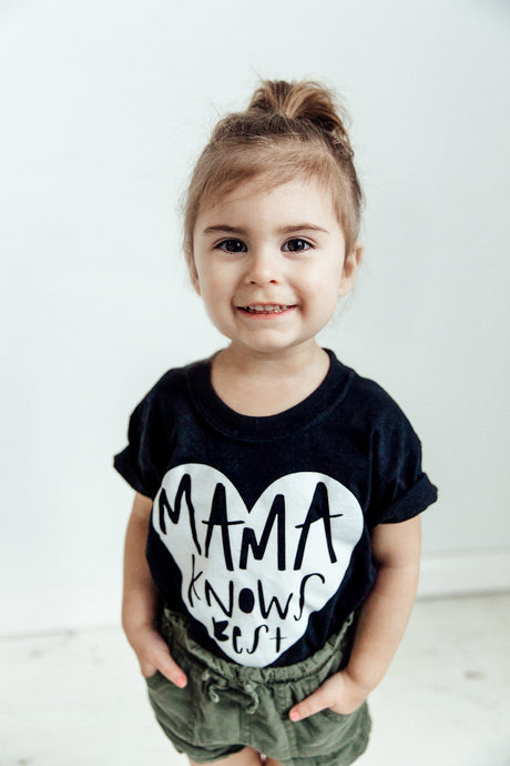 Mama Knows Best Kid's Tee