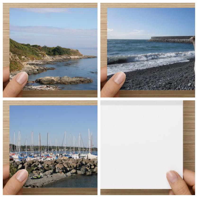 Coastal Vancouver Island Scenes Set of 3 Blank Greeting Cards - High Tide Pictures & Gifts