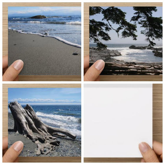 Ocean Scenes Set of 3 Blank Greeting Cards - High Tide Pictures & Gifts