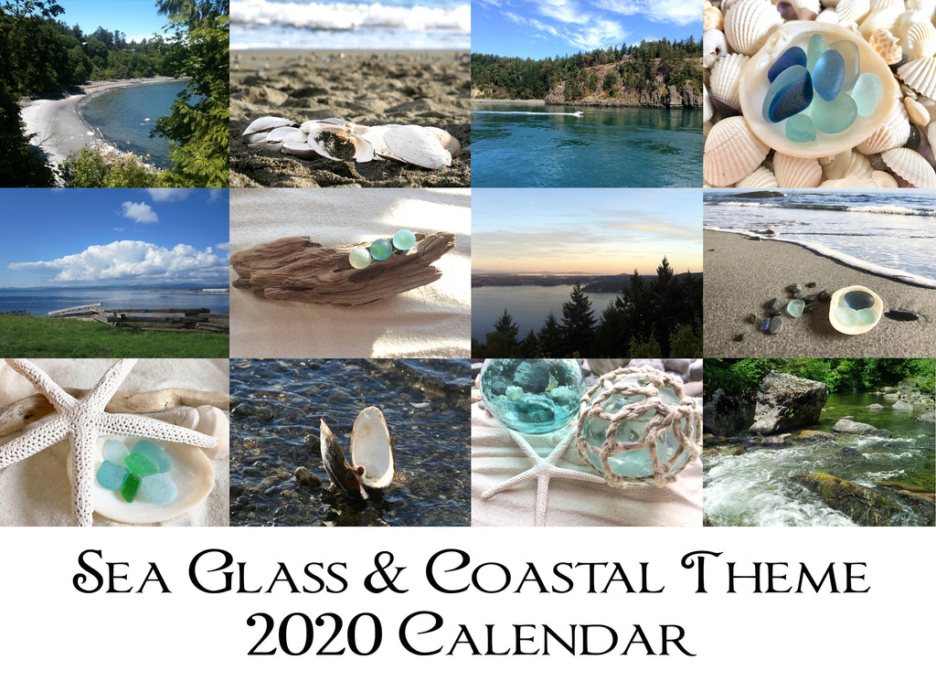 INTRODUCING our NEW Sea Glass & Coastal Theme 2020 Wall Calendar