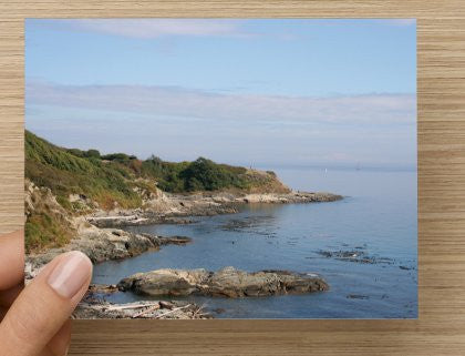 Cliffs by the Sea Blank Greeting Card - High Tide Pictures & Gifts