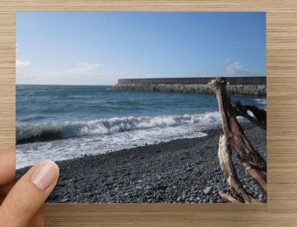 Ogden Point Blank Greeting Card Vancouver Island - High Tide Pictures & Gifts