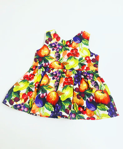 Fruit Peplum Top (Long or Sleeveless)