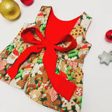 Santa Snacks Christmas Peplum Top