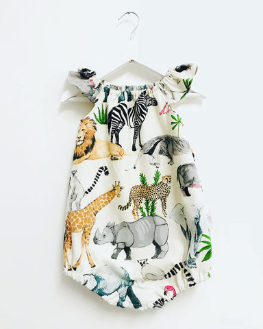 Safari Romper (Flutter or Long Sleeves)