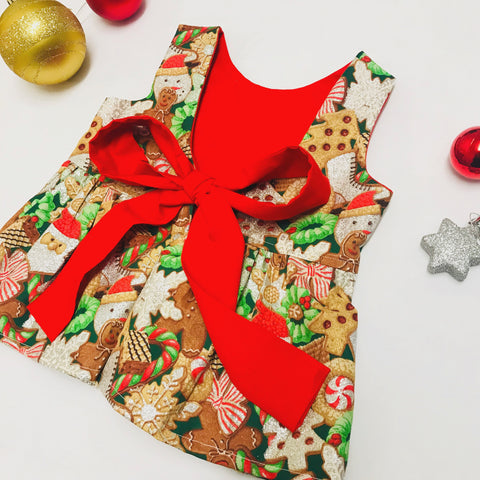 Santa Snacks Christmas Dress