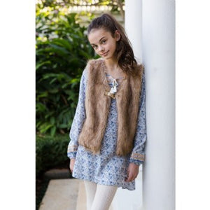 Tahlia Girl Fox Faux Fur Vest