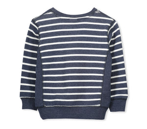 Milky Stripe Crew Sweat