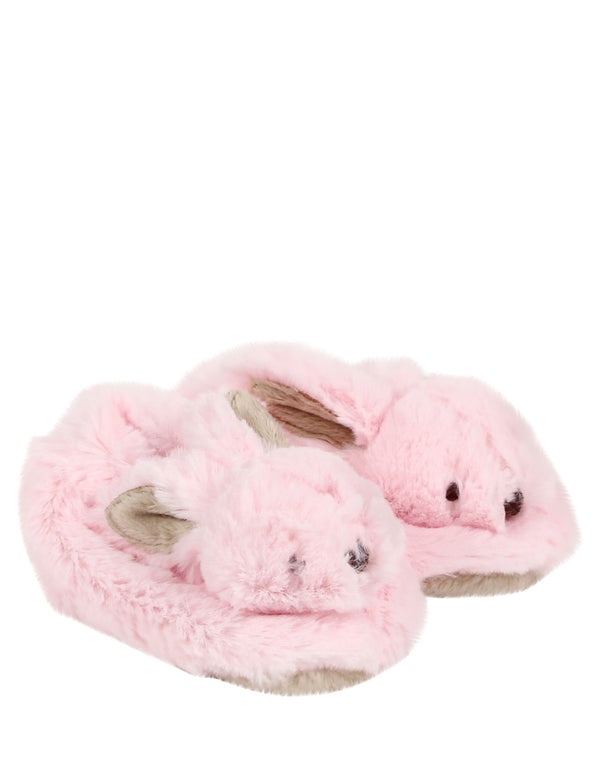 Bebe Little Bunny Slippers Pink