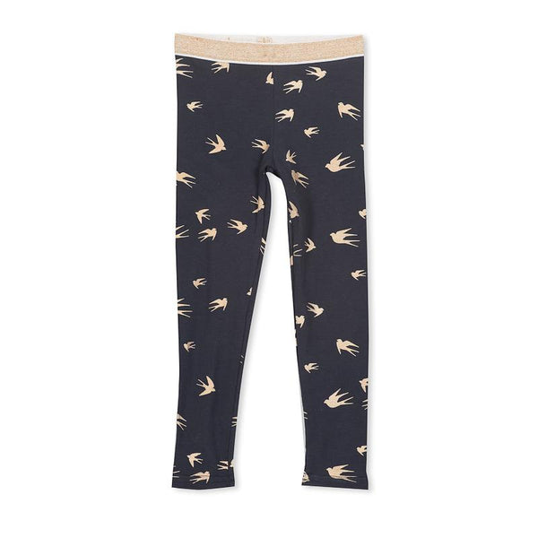 Milky Foil Birds Legging