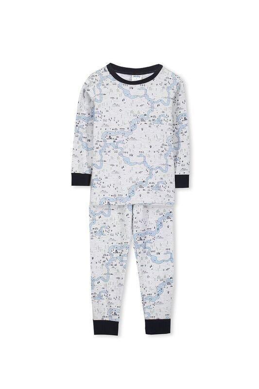 Milky Map PJ's Sizes 3 - 7
