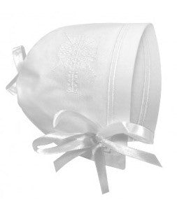 Baptism/Christening Bonnet Straight Edge
