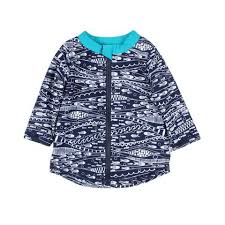 Bebe Jay Print Long Sleeve Rash Vest